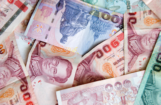 Thai currency notes
